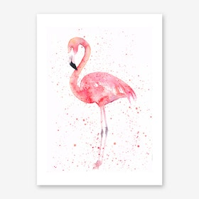 Flamingo Art Print I