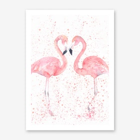 Flamingo Double Art Print I