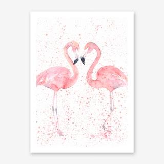 Flamingo Double Art Print I
