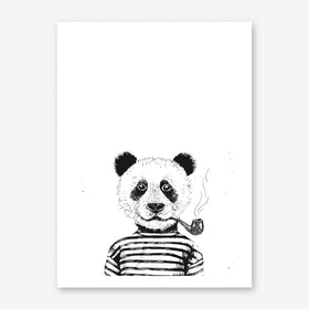 Hipster Panda Art Print