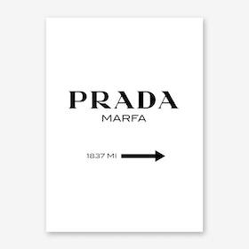 Prada Marfa Portrait Art Print