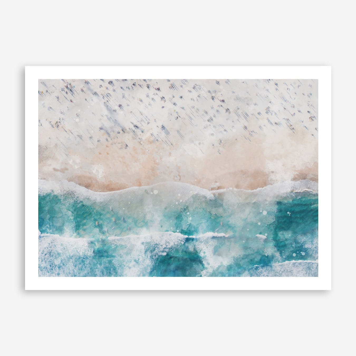 Aerial Beach View Watercolour I
