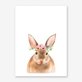 Floral Rabbit Art Print