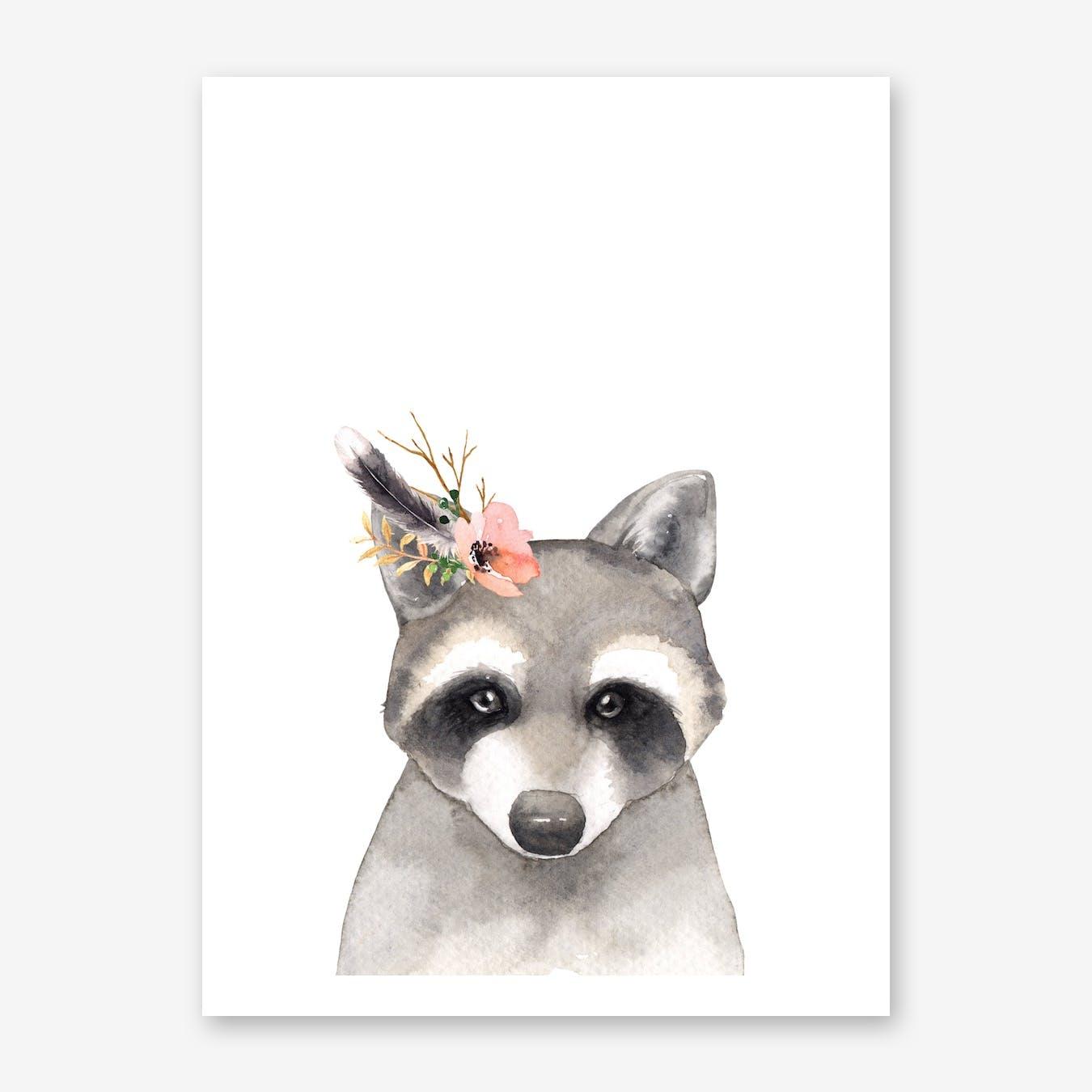Floral Raccoon
