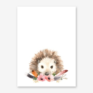 Floral Hedgehog Art Print