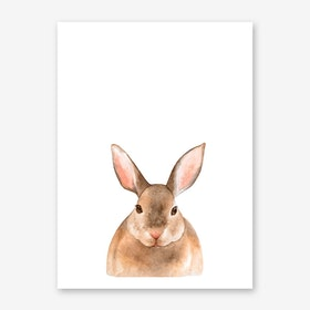 Nursery Rabbit Art Print