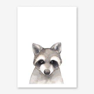 Nursery Raccoon Art Print