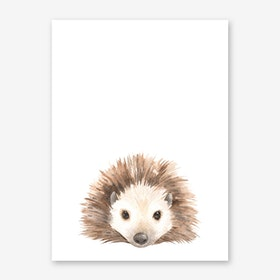Nursery Hedgehog Art Print