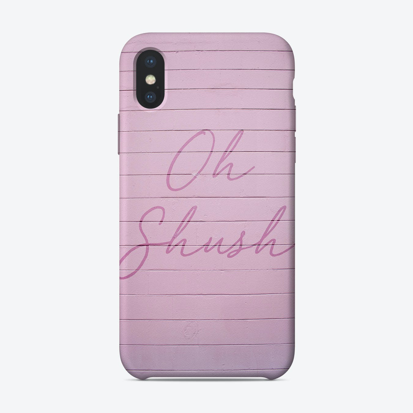 Pink Oh Shush iPhone Case