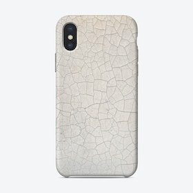 White Crackle Print iPhone Case