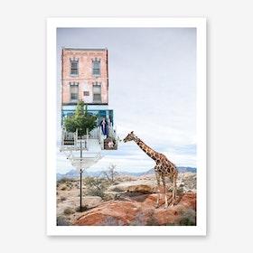 Honey the Giraffe is Back Art Print