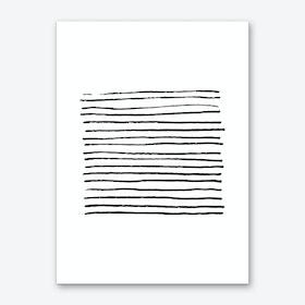 Abstract Black Zebra Lines Art Print