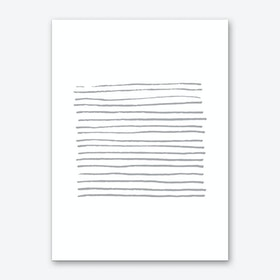 Abstract Grey Zebra Lines Art Print