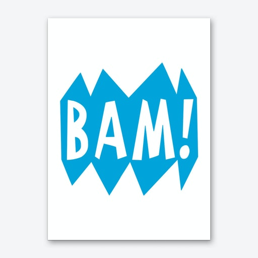BAM Superhero Blue Art Print