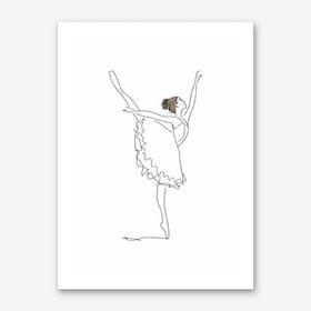 Ballet Line Art Art Print