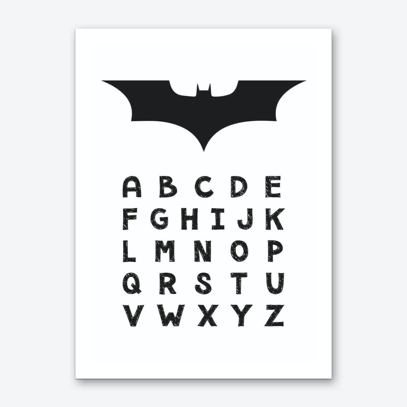 Batman Alphabet Art Print