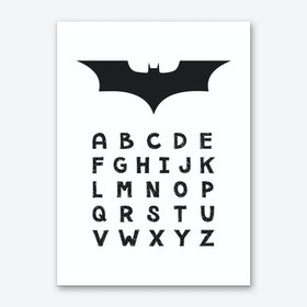 Batman Alphabet Art Print