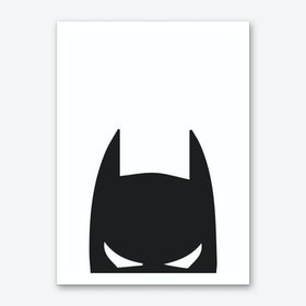 Batman Head Art Print