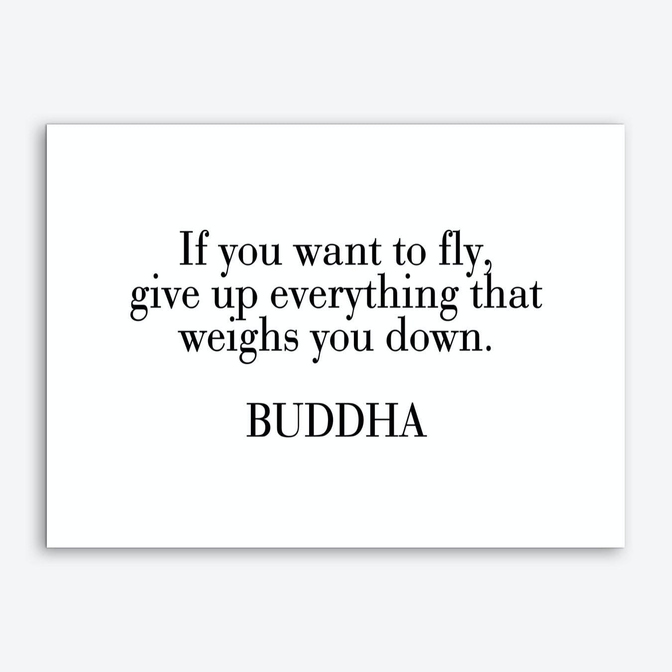 Buddha Quote Art Print