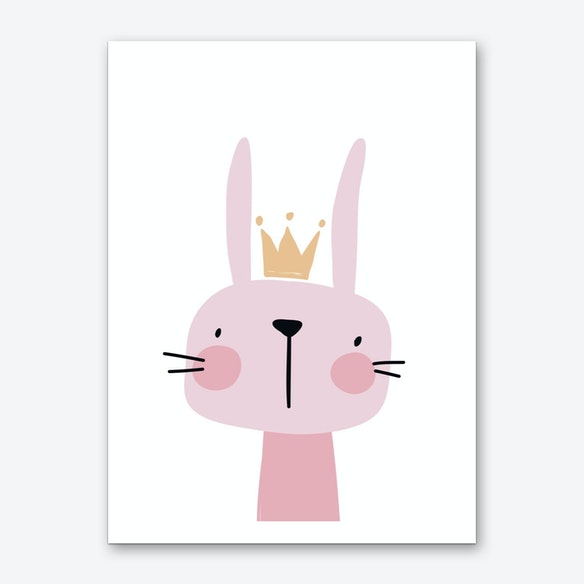 Bunny Nursery Print Art By Pixy Paper