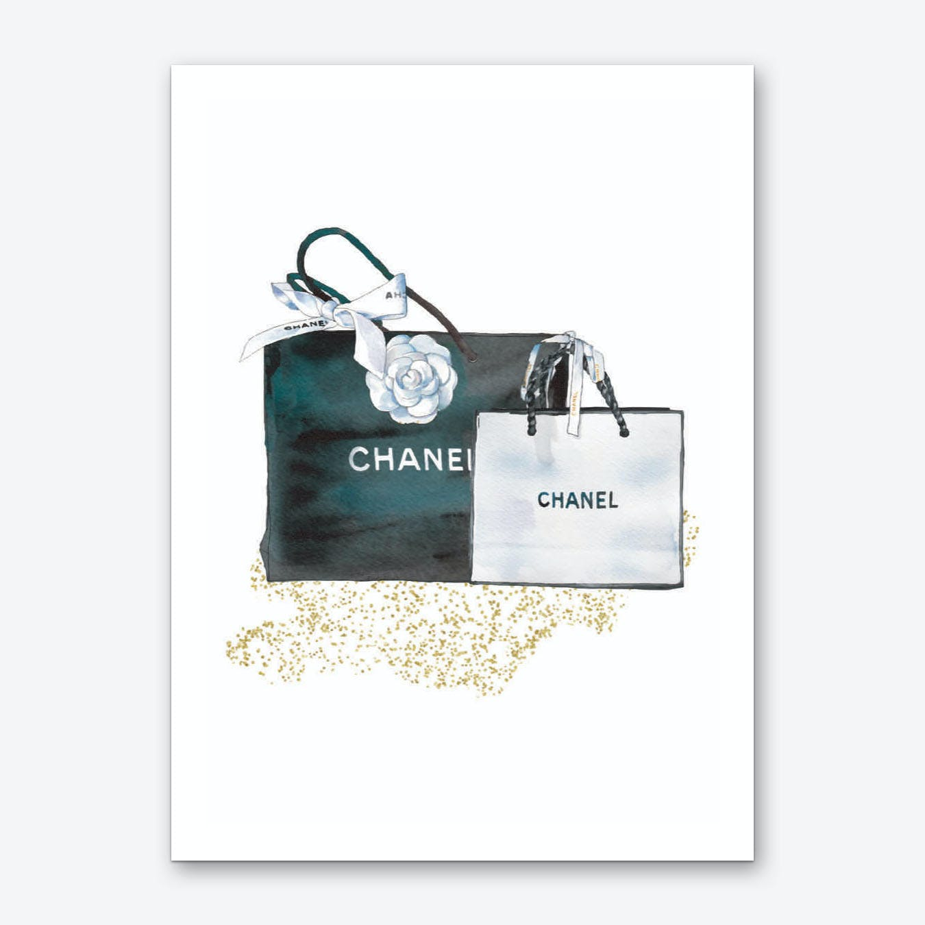 Chanel Black and White Bags Art Print