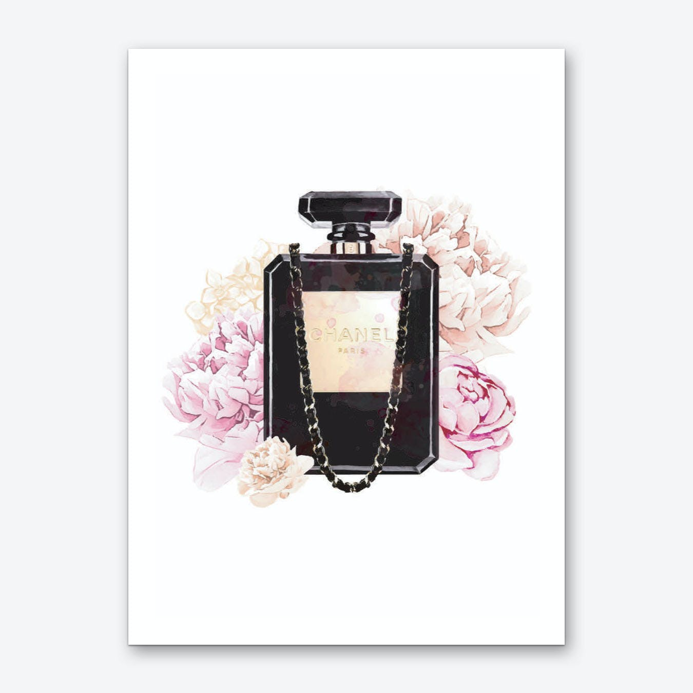 Chanel Floral Perfume Art Print
