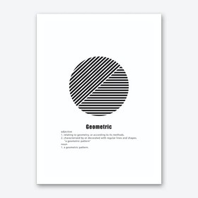 Circle Geometric Meaning Art Print