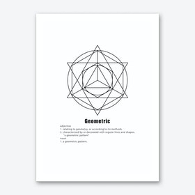Circle and Star Geometric Meaning Art Print