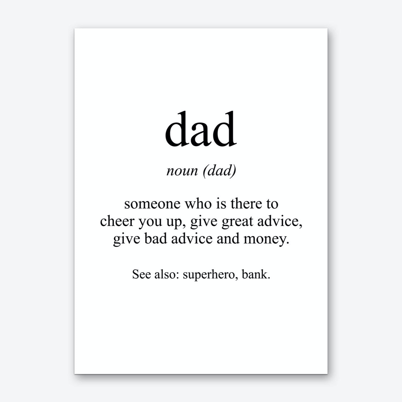 Dad Meaning Print Art Print