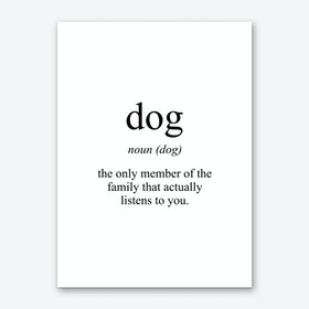 Dog Meaning Print Art Print