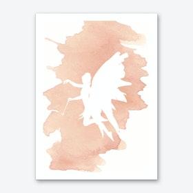 Fairy Peach Watercolour Art Print
