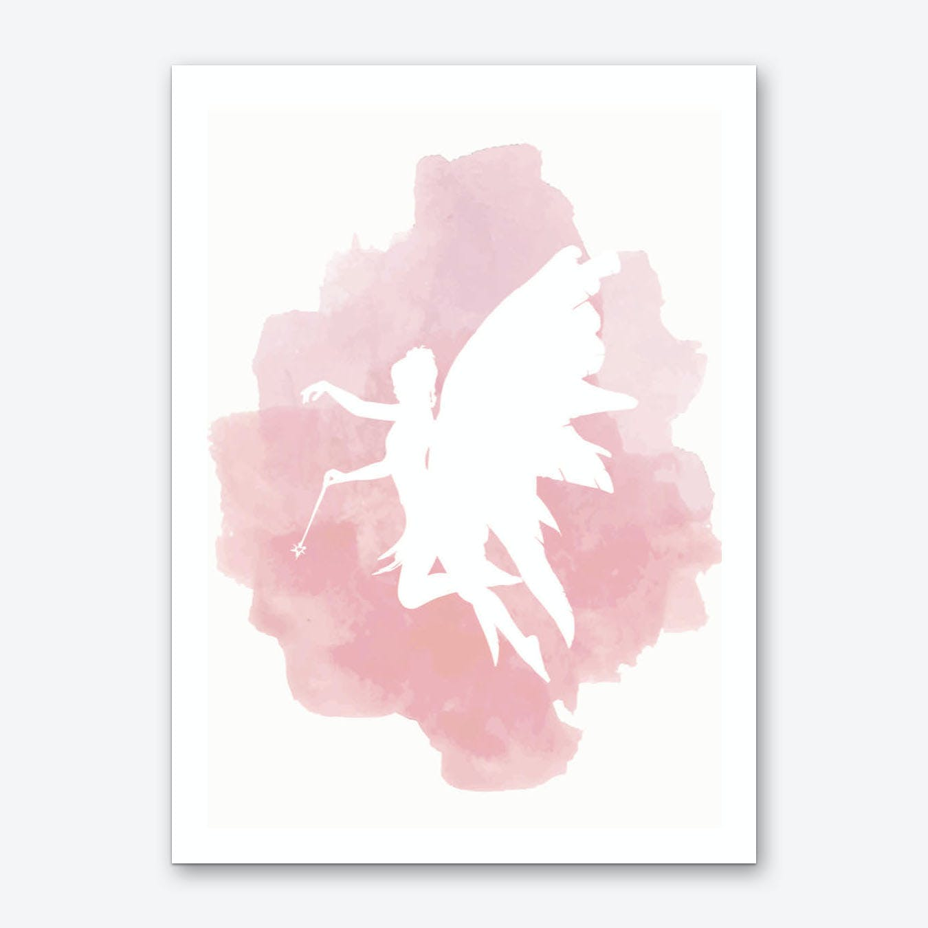 Fairy Pink Watercolour Art Print