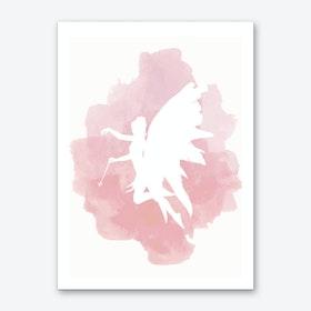 Fairy Pink Watercolour Art Print