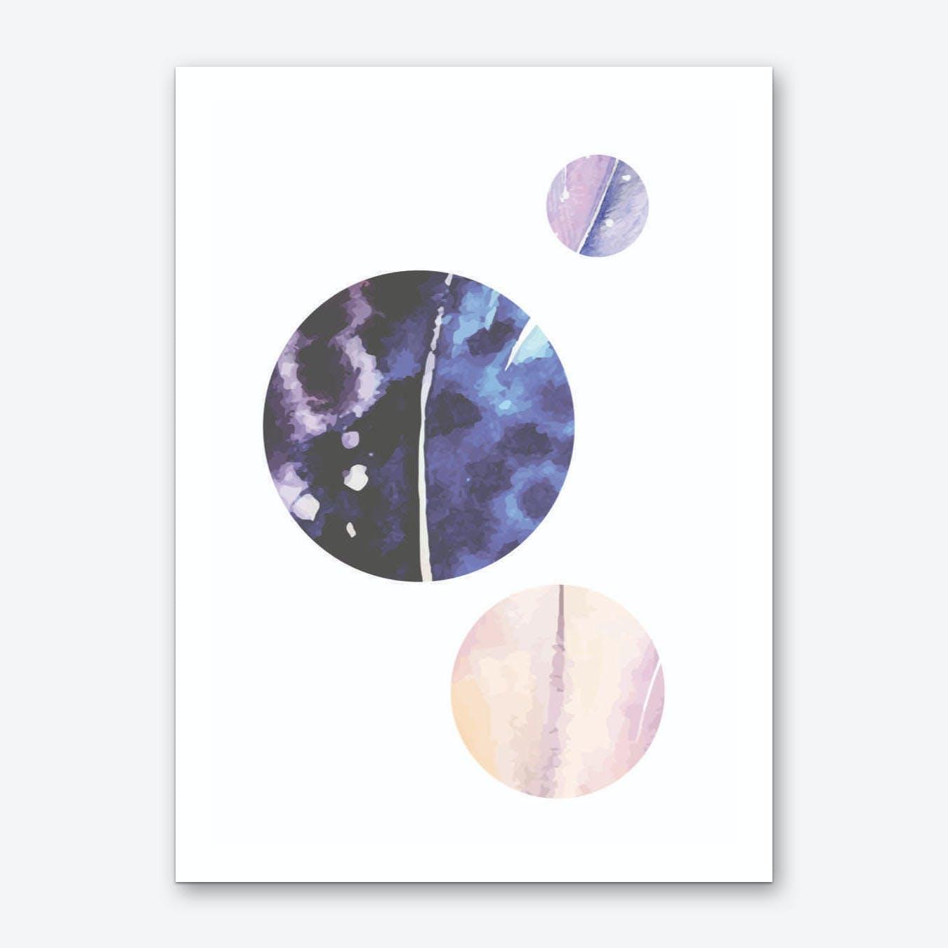 Feather Moons Art Print