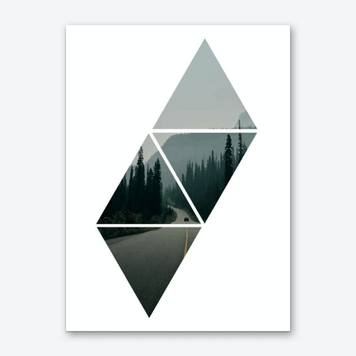 Forest Triangles Window Art Print