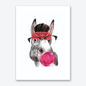 Gangster Donkey Art Print