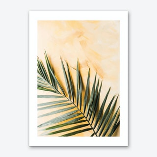 Green and Yellow Leaf Art Print