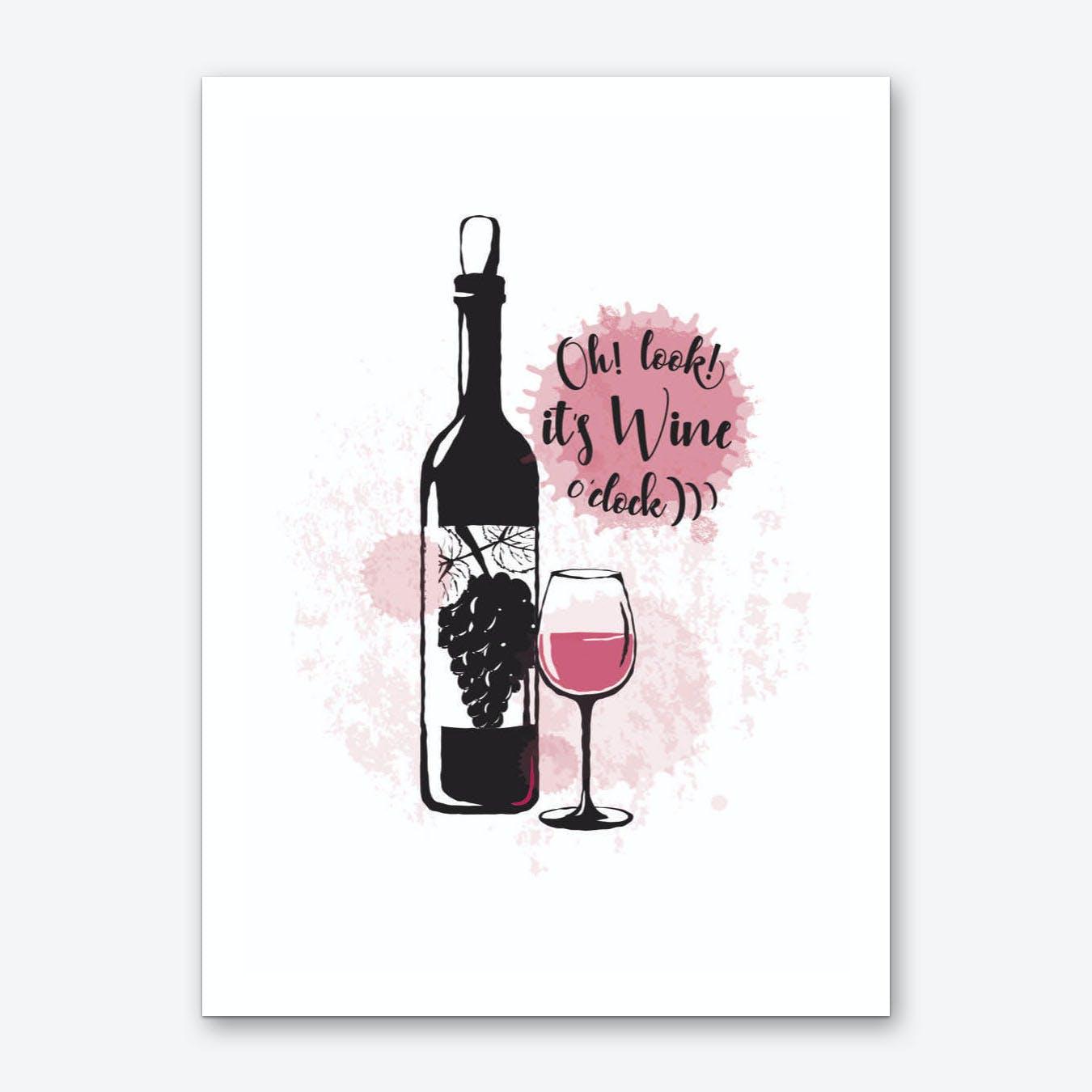 It's Wine O Clock Art Print