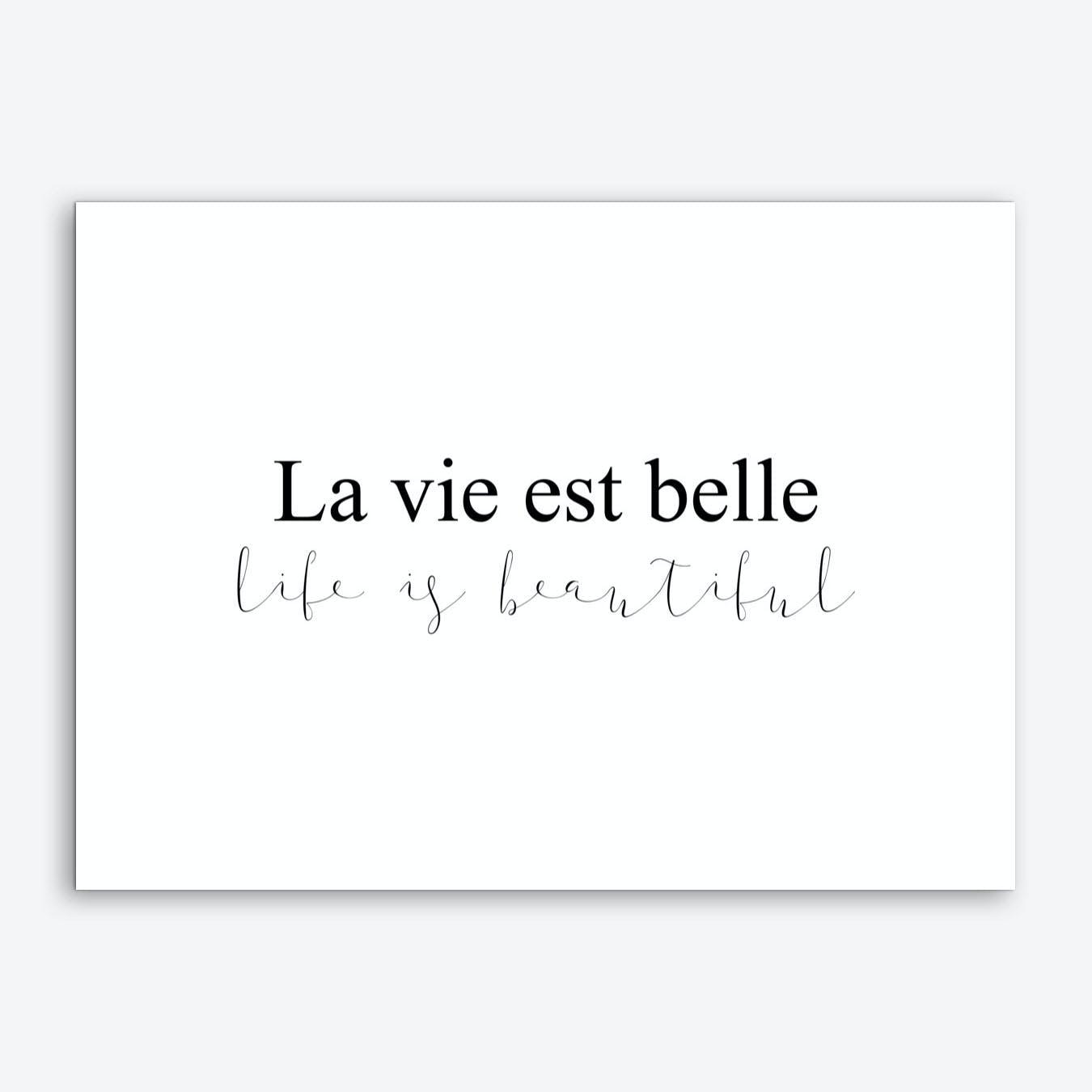 La Vie Est Belle I Art Print