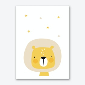 Lion Nursery Art Print