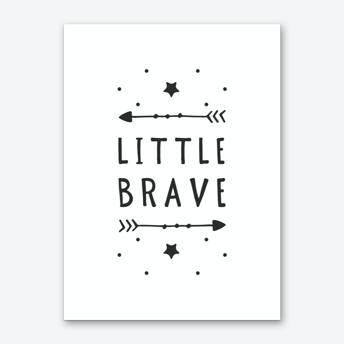 Little Brave Art Print