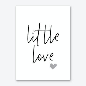 Little Love Typography Art Print
