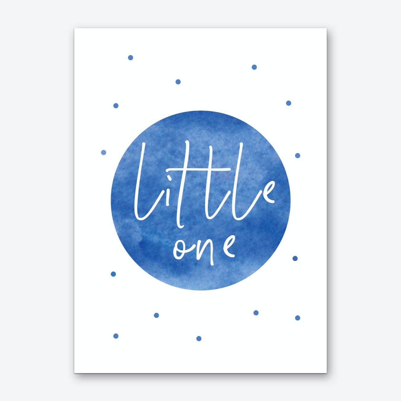 Little One Blue Watercolour Art Print