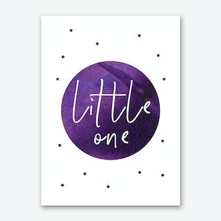 Little One Purple Watercolour Art Print