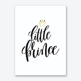 Little Prince Black Art Print