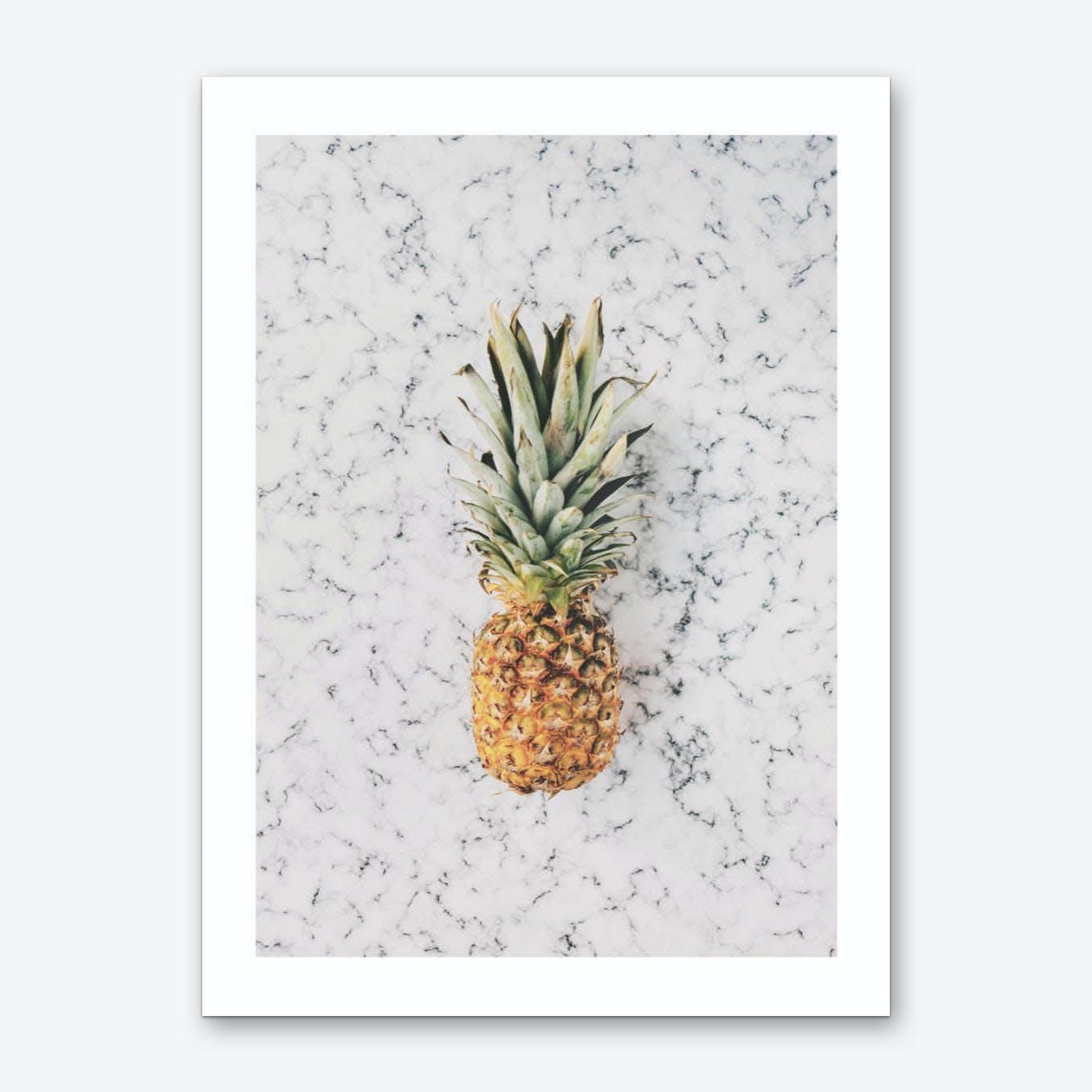 Marble Pineapple Art Print