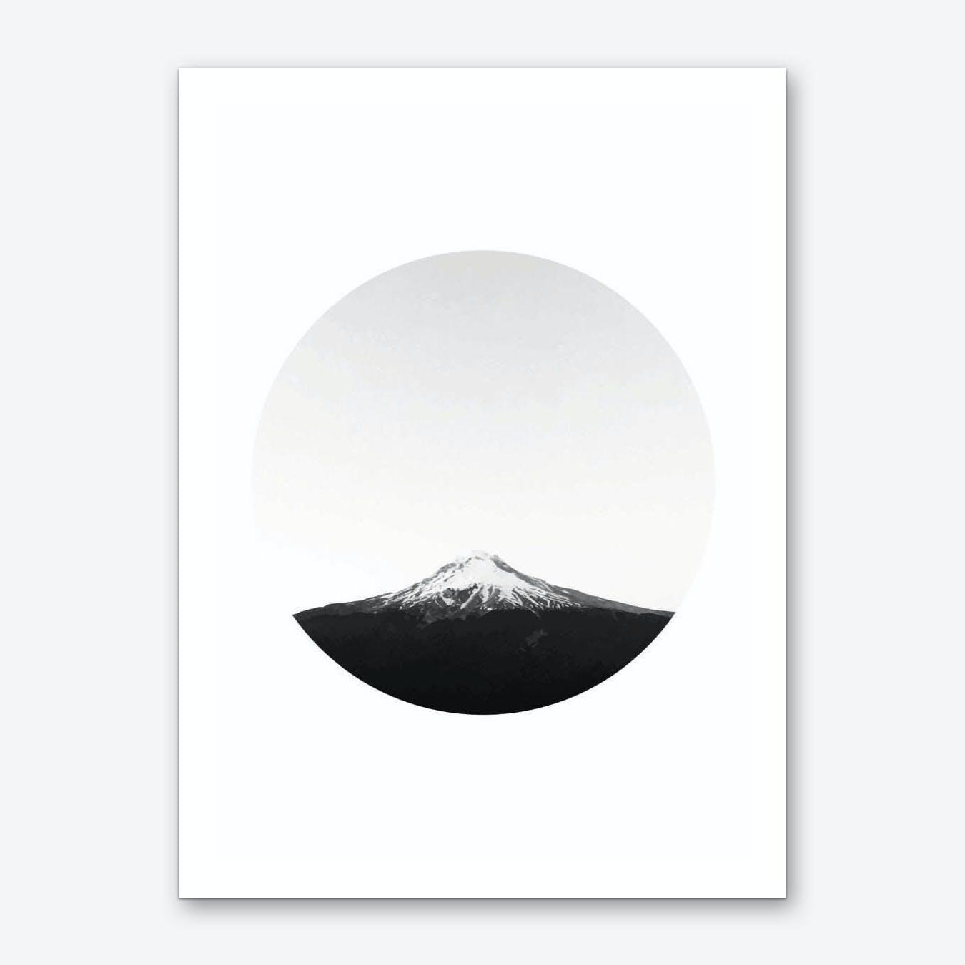 Mountain in a Circle Art Print