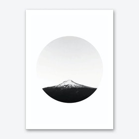 Mountain in a Circle Art Print