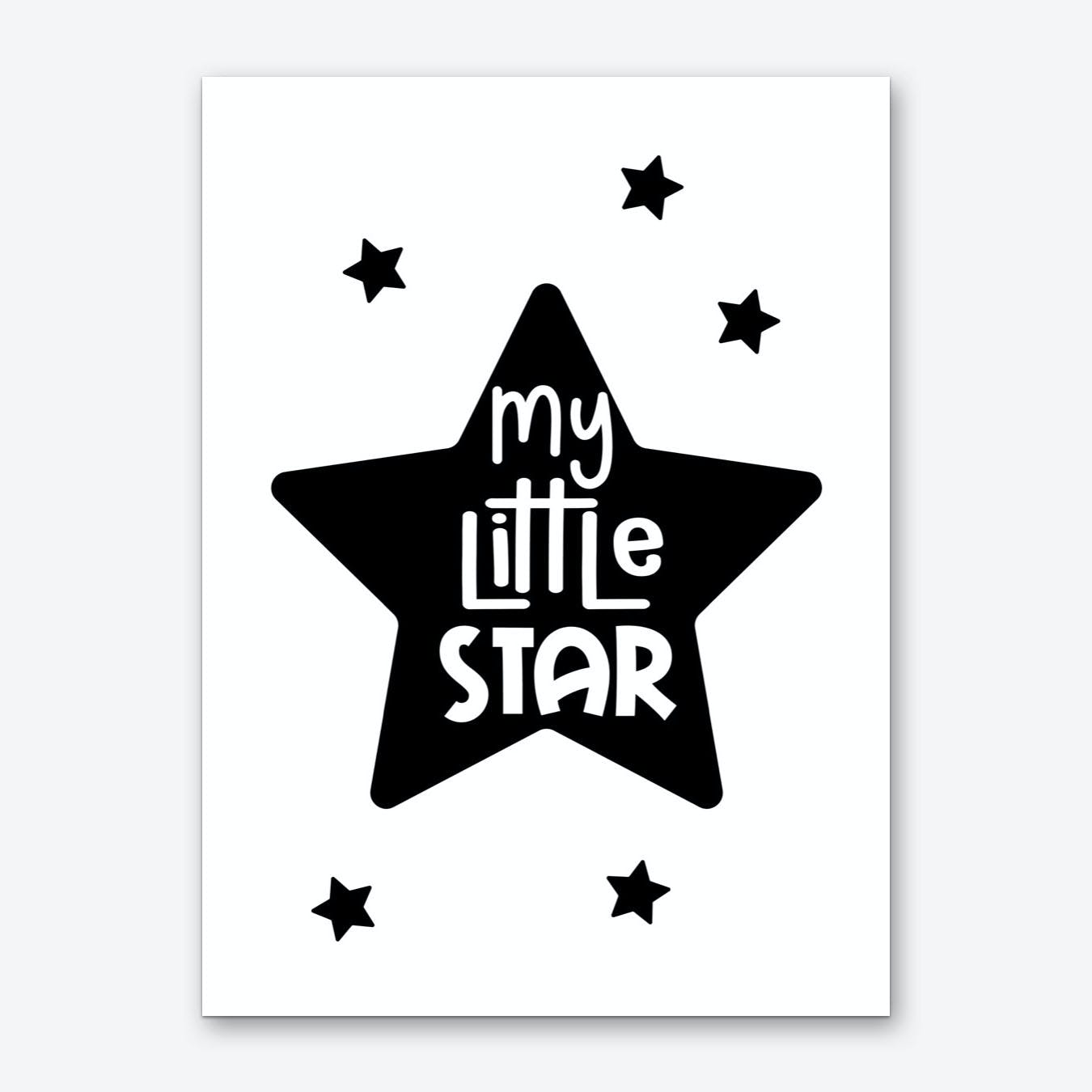 My Little Star Art Print