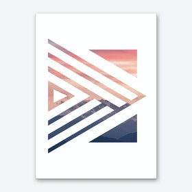Orange and Blue Sunset Art Print
